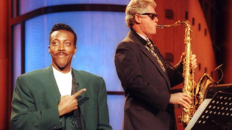 Arsenio Hall -- with then-Arkansas Governor Bill Clinton