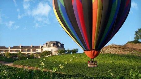 Take a hot-air balloon ride at sunrise over