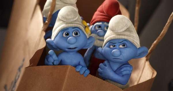 Vanity, Grouchy and Papa Smurf in