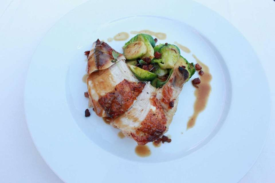 The roasted chicken is a good choice at