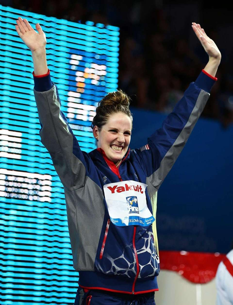 Gold medal winner Missy Franklin of the United