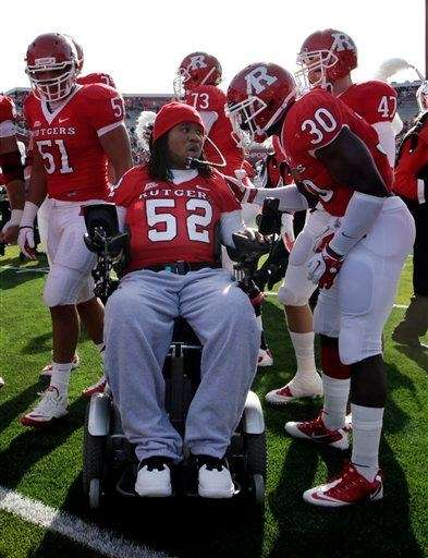 Former Rutgers football player and senior Eric LeGrand