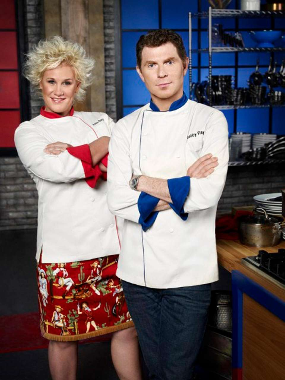 (Food Network, 2010-present): Bobby Flay and Anne Burrell