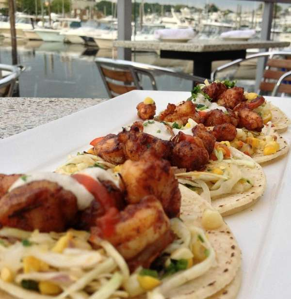 Spicy Shrimp Tacos Are A Special Appetizer At The Patio In Freeport. (July  30, 2013) Photo Credit: Newsday / Erica Marcus