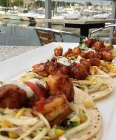 Spicy shrimp tacos are a special appetizer at