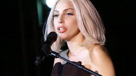Lady Gaga at the 2013 NYC Pride Rally.