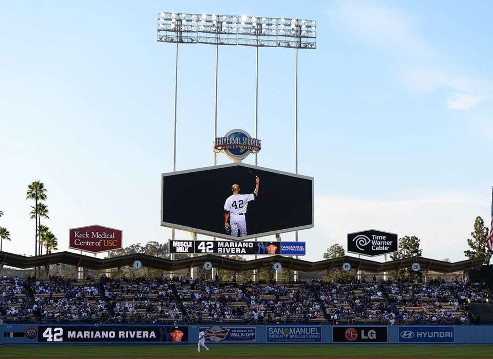 LOS ANGELES DODGERSThe Dodgers had a pregame video