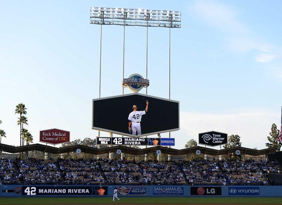 LOS ANGELES DODGERSThe Dodgers had a pregame video