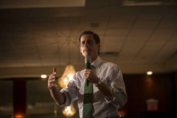 Anthony Weiner speaks at a Meeting of Friends