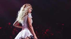 Singer Beyonce performs during her