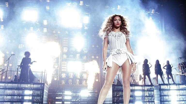Beyonce performs during her Mrs. Carter Show World