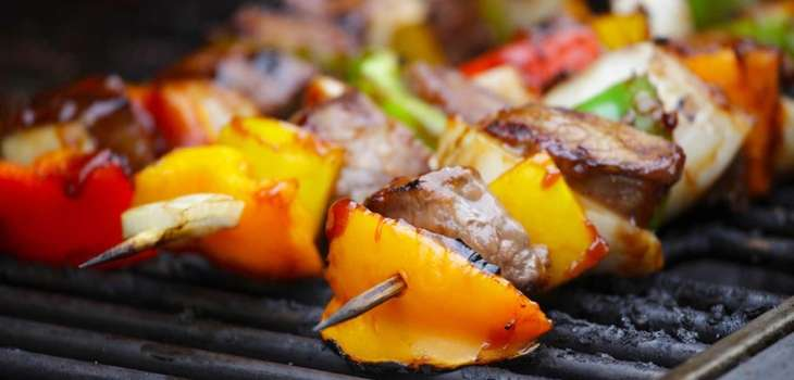 Dress up your barbecue spread with some kebabs.