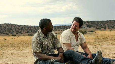 Denzel Washington, left, and Mark Wahlberg in