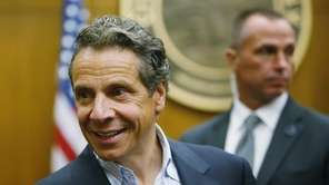 New York Gov. Andrew Cuomo mingles with guests
