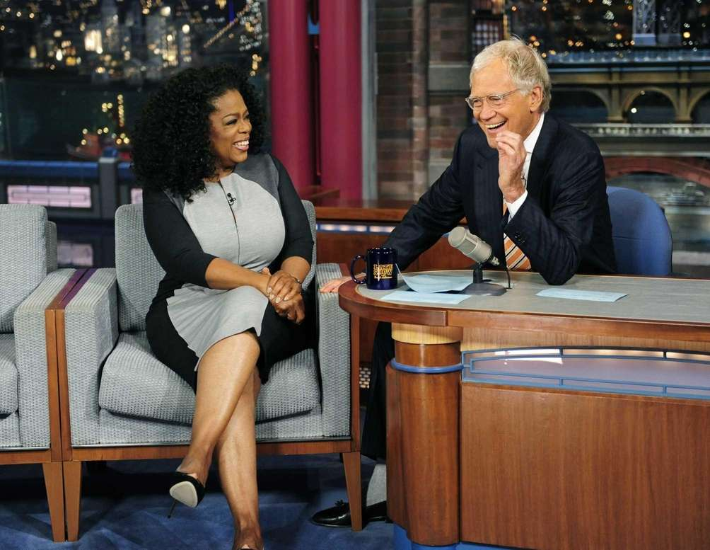 David Letterman (with frequent guest Oprah Winfrey) hosted