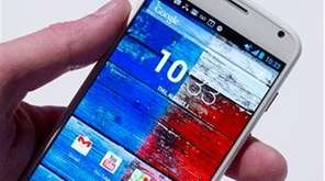 The Motorola Moto X smartphone, using Google's Android