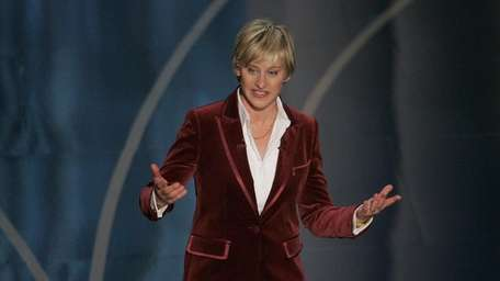Oscar host Ellen DeGeneres performs at the beginning