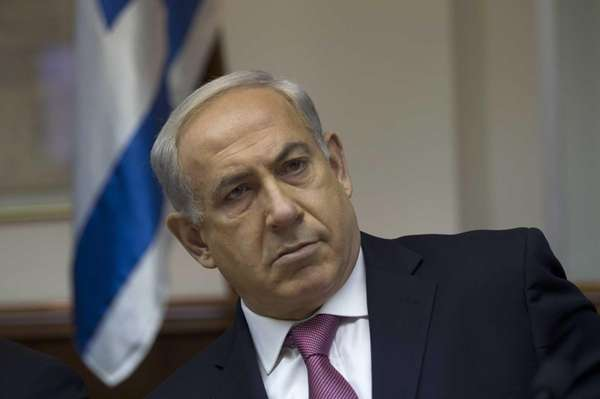 Israel's Prime Minister Benjamin Netanyahu attends the weekly