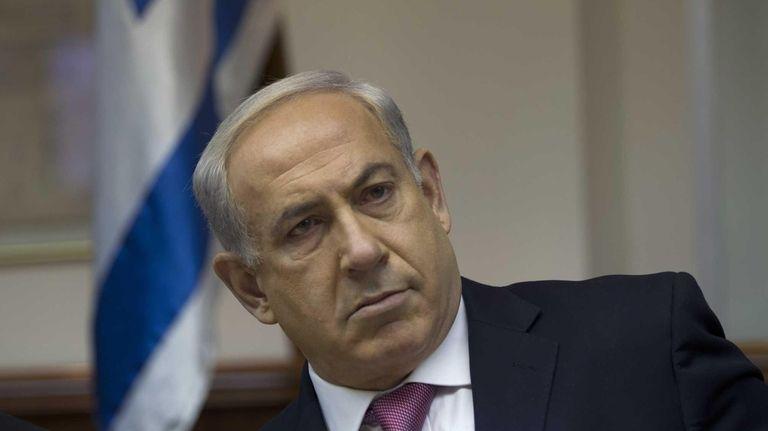 Israel's Prime Minister Benjamin Netanyahu attends the weekly