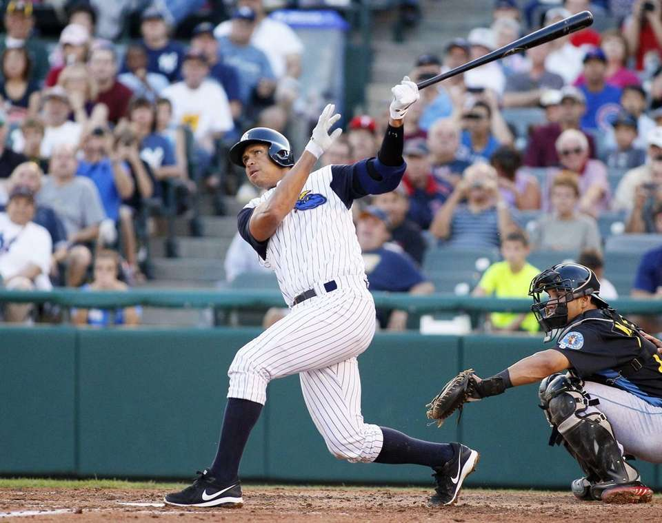 Yankees' Alex Rodriguez hits a solo home run