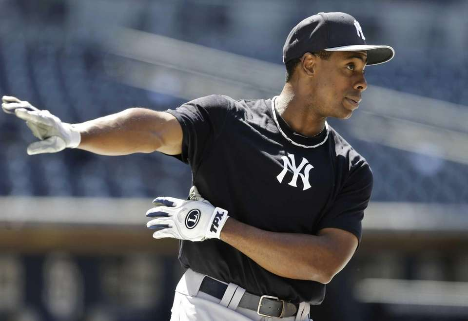 Yankees outfielder Curtis Granderson, making his return from