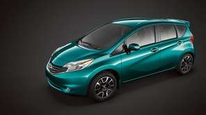 The 2014 Nissan Versa Note is six inches