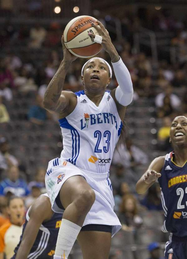 Liberty's Cappie Pondexter goes up for a shot
