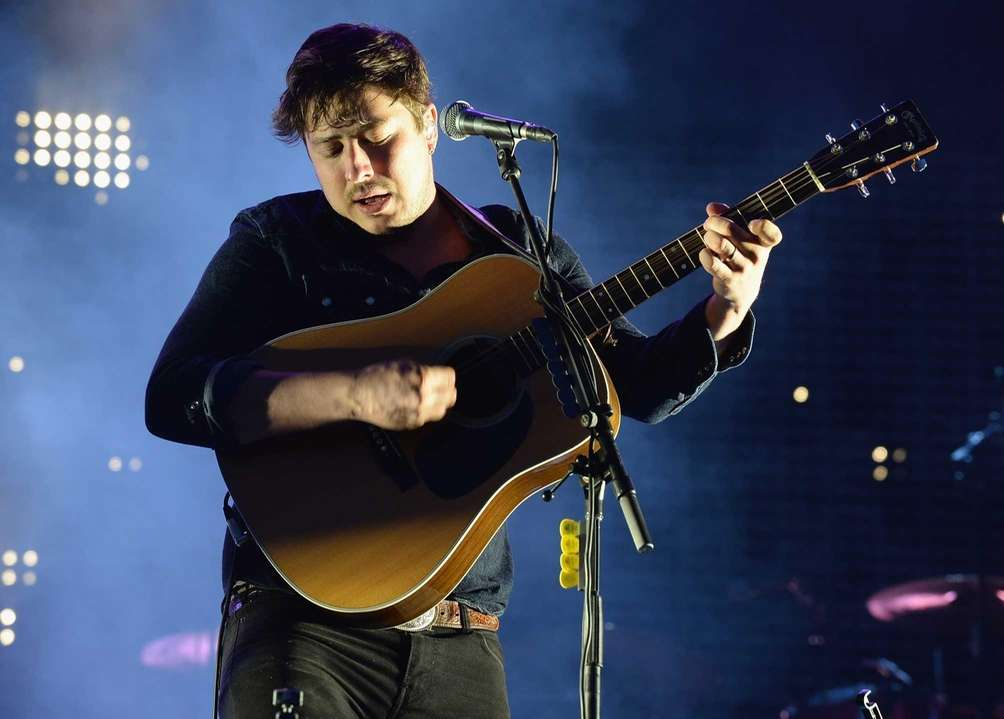 Marcus Mumford of English folk-rock band Mumford &