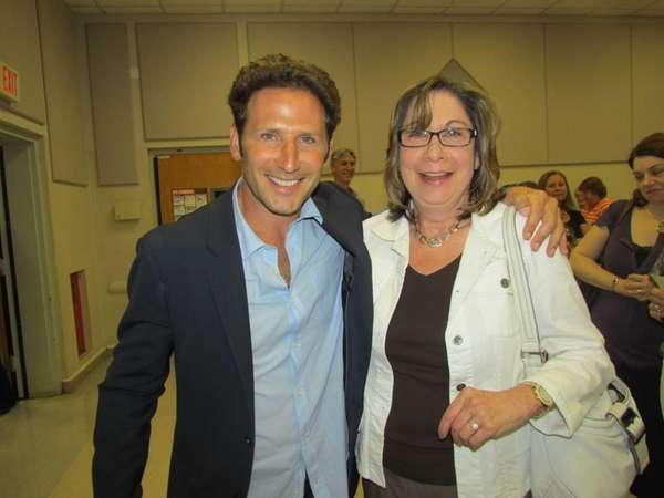 "Actor Mark Feuerstein, of ""Royal Pains,"" poses with"