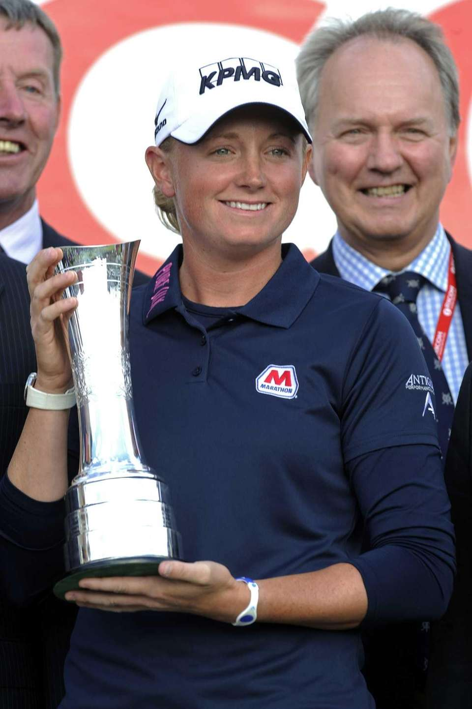 United States golfer Stacy Lewis poses with the