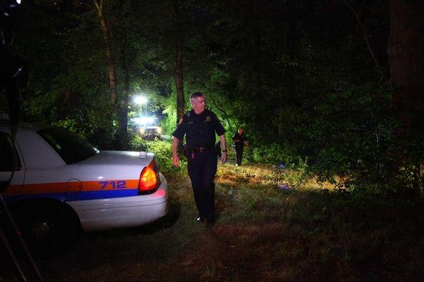 Nassau Police investigate the scene of a homicide