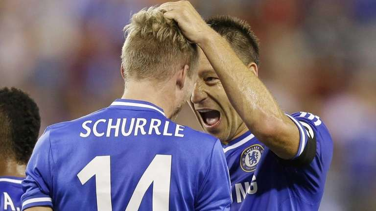 Chelsea defender Gary Cahill (24) celebrates with Chelsea