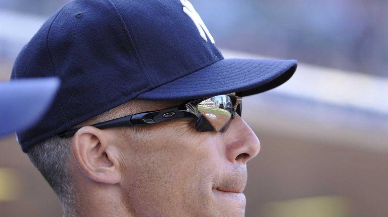Joe Girardi looks on during the ninth inning