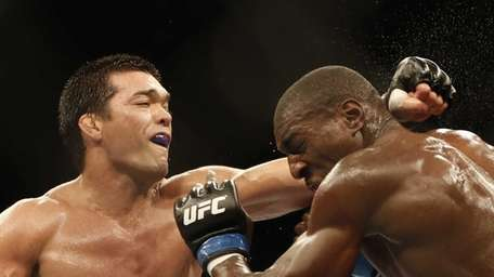 Lyoto Machida, from Brazil, left, and Phil Davis,