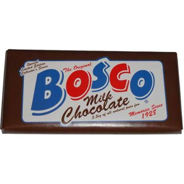Bosco Chocolate Bar (Praim) Remember Bosco Syrup's famous