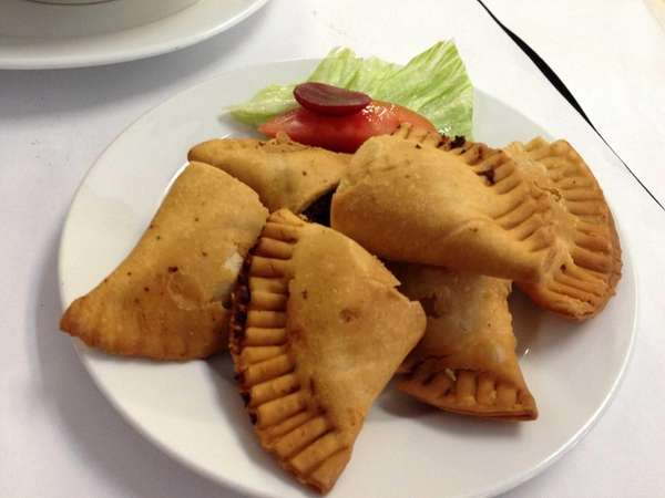 The empanadas are crisp and flaky at Sabroso