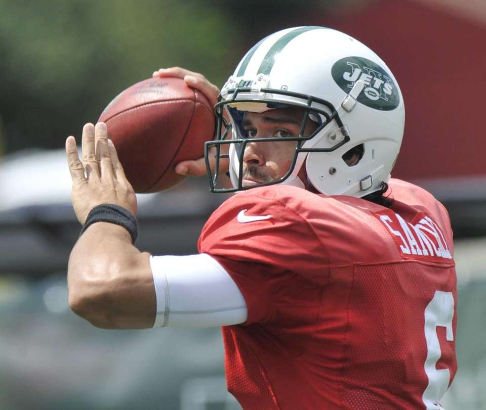 Jets quarterback Mark Sanchez during training camp. (Aug.