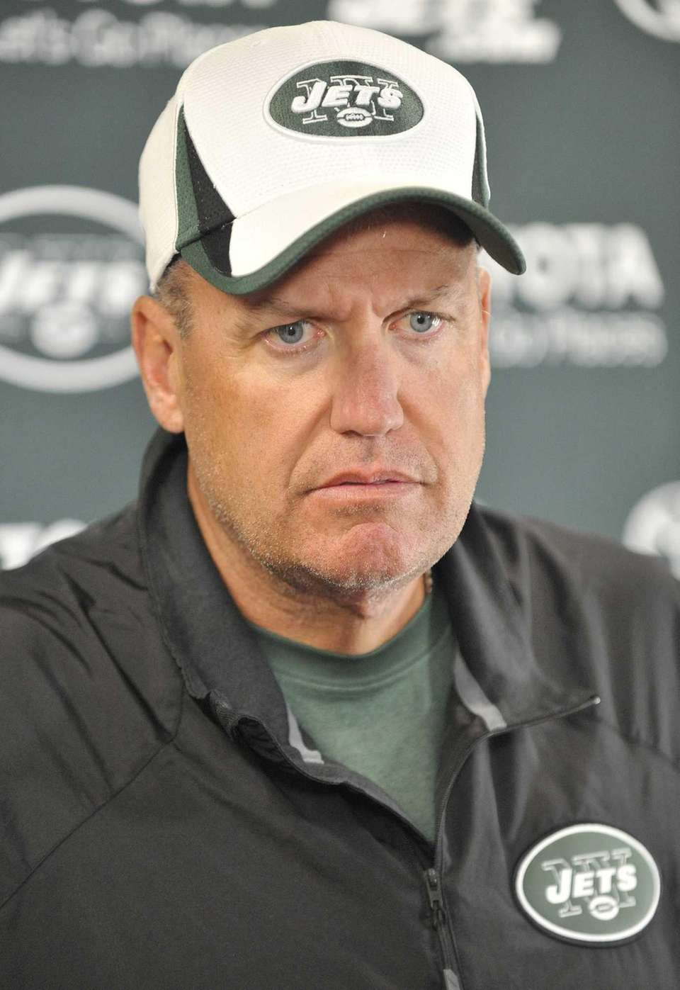 Jets head coach Rex Ryan during training camp.