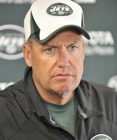 Jets head coach Rex Ryan during training camp.