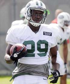 Jets running back Bilal Powell during training camp.