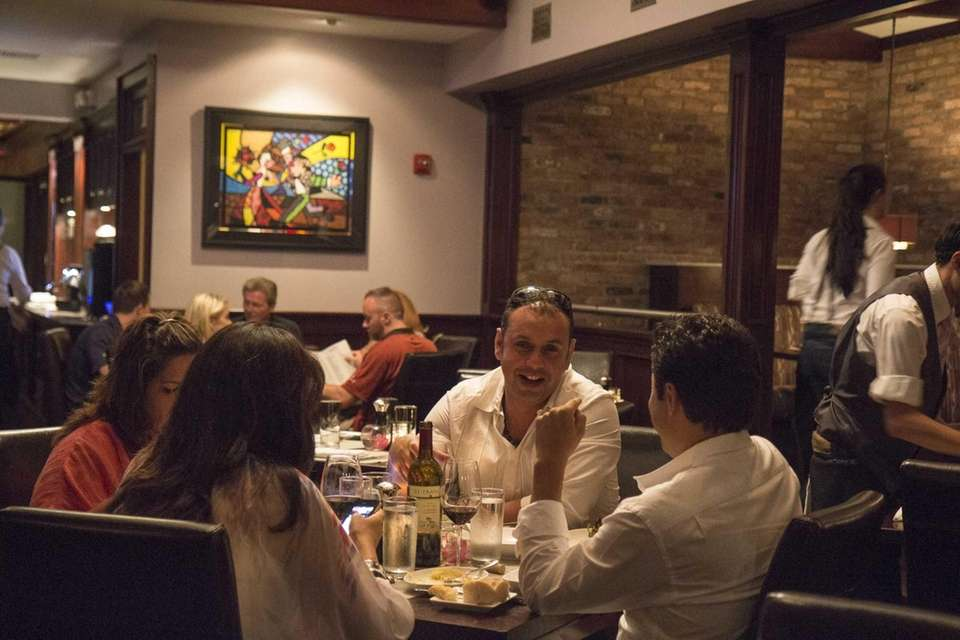 Marble Modern American Steakhouse has colorful, stylized artwork
