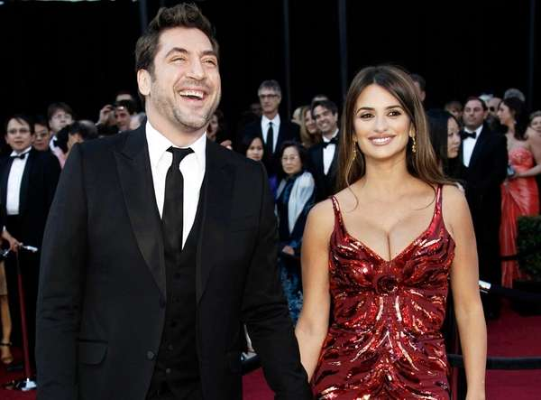 Javier Bardem and Penelope Cruz are seen at