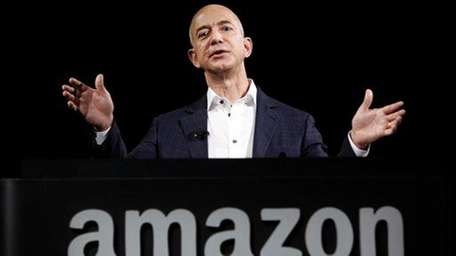 Amazon founder and chief executive Jeff Bezos speaks