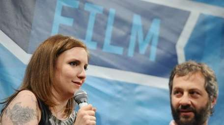 Lena Dunham and Judd Apatow answered questions in