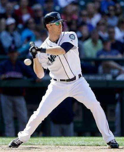 Seattle Mariners outfielder Jason Bay takes a called