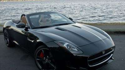 The 2014 Jaguar F-Type roadster is available with