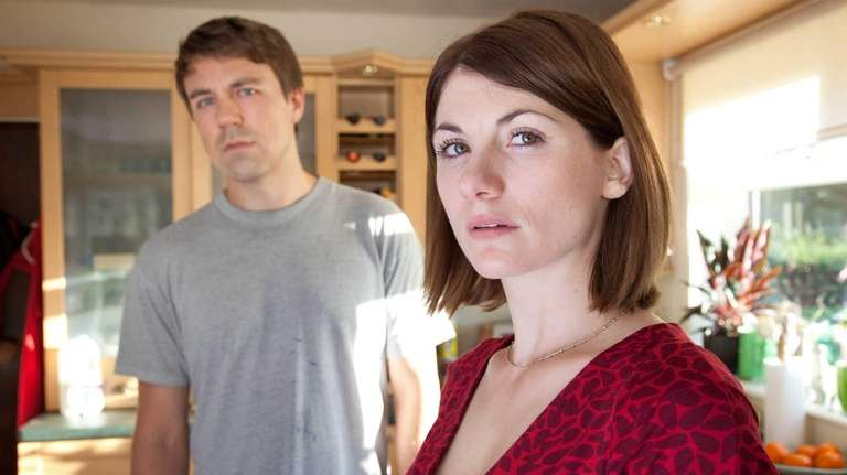 Jodie Whittaker as Beth Latimer, right, and Andrew