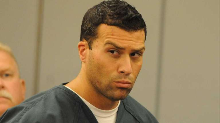 Thomas Costa, of Coram, inside the courtroom at