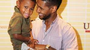 Usher and his son,Usher Raymond V attend Usher's