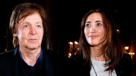 Paul McCartney with wife Nancy Shevell. (Getty Images)